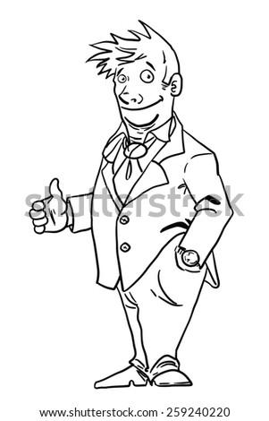 Businessman isolated on white background.  - stock photo