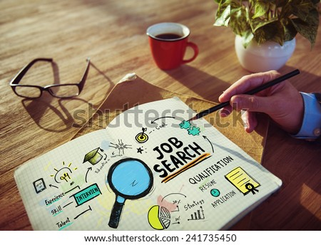 Businessman Job Search Designer Office Woringk Concept - stock photo