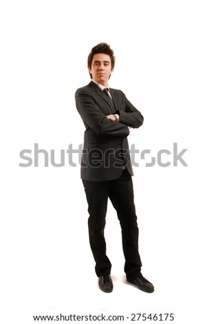 Businessman looking at the camera - stock photo