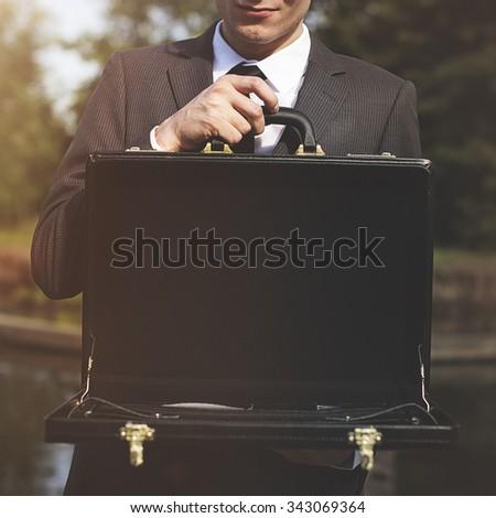 Businessman Loss Recession Bankruptcy Risk Financial Crisis Concept - stock photo