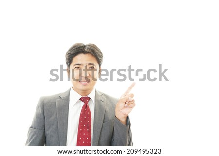 Businessman make a presentation