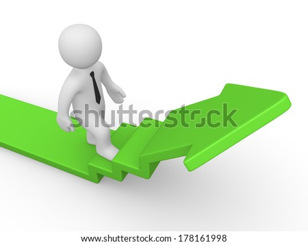 businessman make first step to success - stock photo