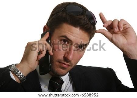 Businessman making a phone call. - stock photo