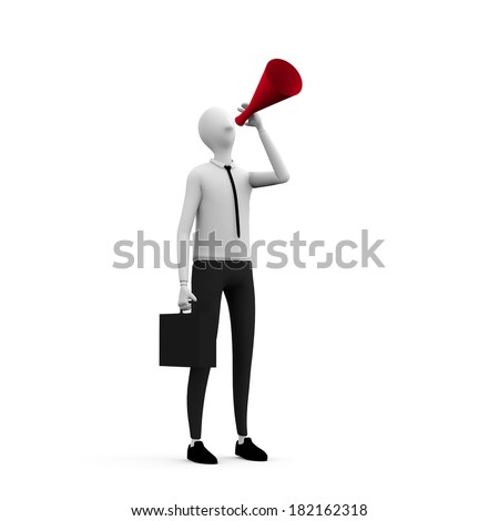 businessman making announcement  - stock photo