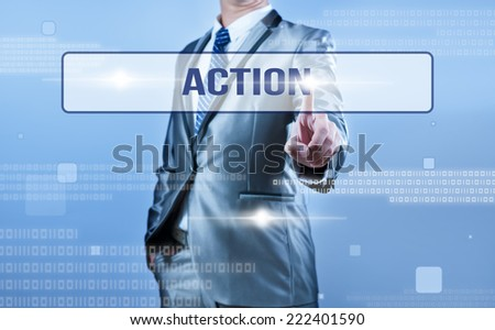 businessman making decision on action