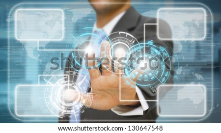 Businessman meeting presentation - stock photo