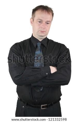 Businessman - melancholic type - stock photo