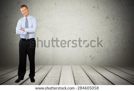 Businessman, Men, Business. - stock photo