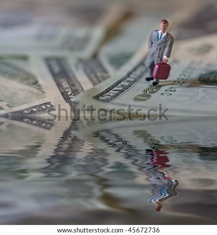 Businessman money - stock photo