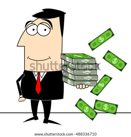businessman money clipart stock illustration 488336710 shutterstock rh shutterstock com clipart businessman businessman clipart black and white