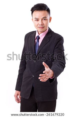 businessman offering a hand shake