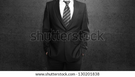 businessman on a black concrete background
