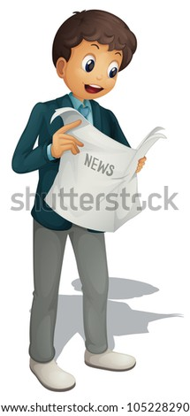Businessman on a white background - EPS VECTOR format also available in my portfolio. - stock photo
