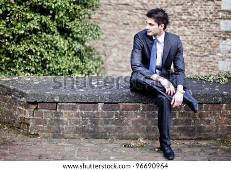 Businessman on break - stock photo