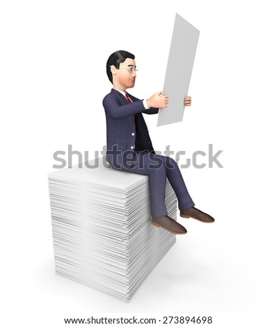 Businessman On Papers Meaning Answers Information And Trade