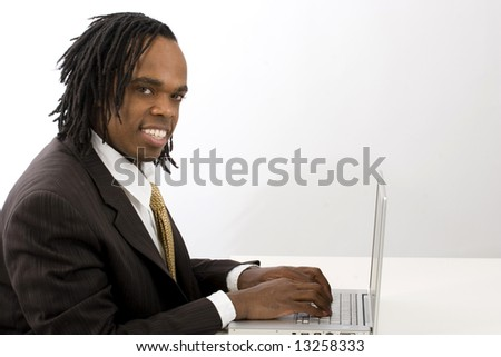 Businessman on the internet