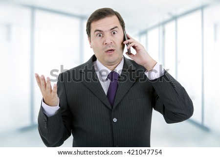 businessman on the phone, at the office