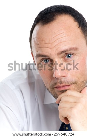 Businessman on white background.