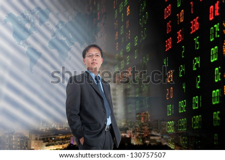 Businessman or stock broker