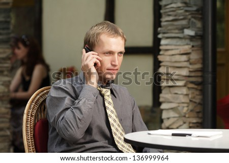 businessman outdoors - stock photo