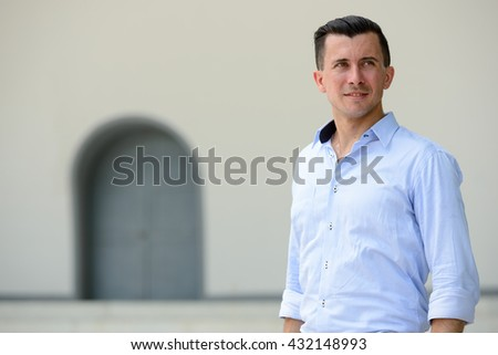 Businessman outdoors