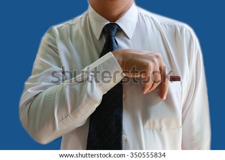 businessman pick up wallet - stock photo