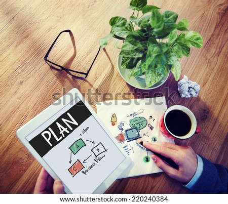 Businessman Planning for a New Business Project - stock photo