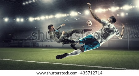 Businessman playing ball