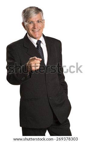 businessman pointed his finger at you