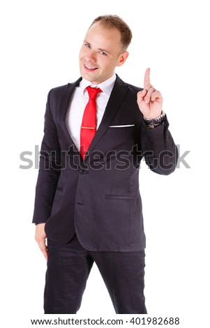 Portrait Elegant Business Man Black Suit Stock Photo 372174832 ...