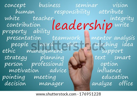 businessman pointing leadership concept