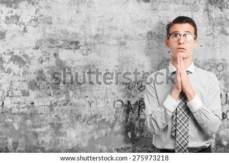 businessman praying - stock photo