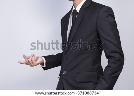 Businessman Presentation on Isolated White Background