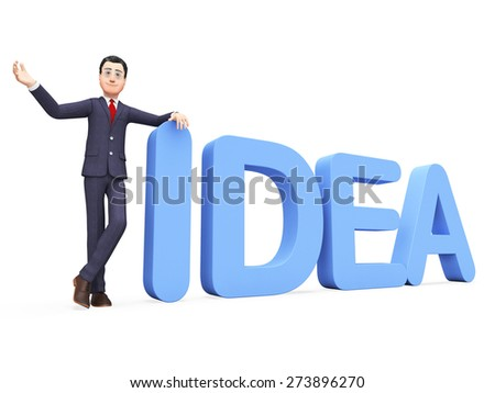 Businessman Presenting Idea Representing Executive Commercial And Innovations - stock photo