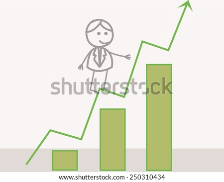 Businessman Profit Chart - stock photo