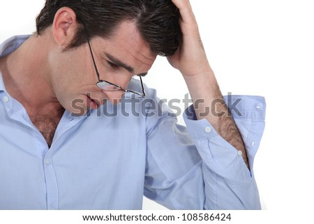 businessman reading - stock photo
