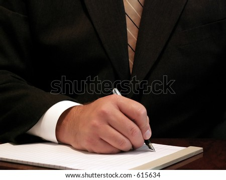businessman ready to take notes - stock photo