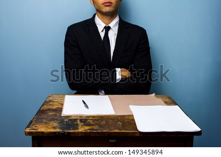 Businessman refusing to sign documents