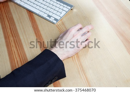 businessman's hand with computer mouse