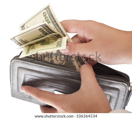 Businessman's hands holding - stock photo