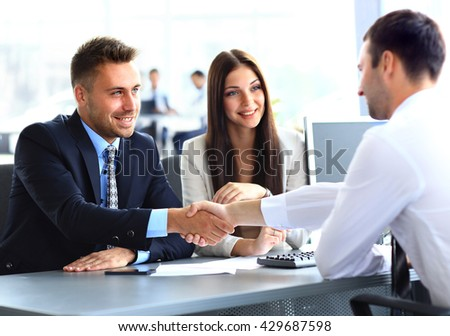 businessman shaking hands - stock photo