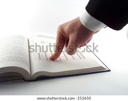 businessman showing chart - stock photo