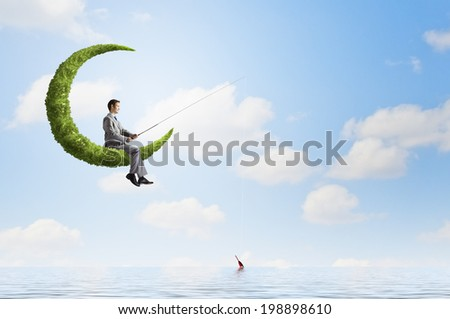 Stock images royalty free images vectors shutterstock for Fishing rod sun and moon