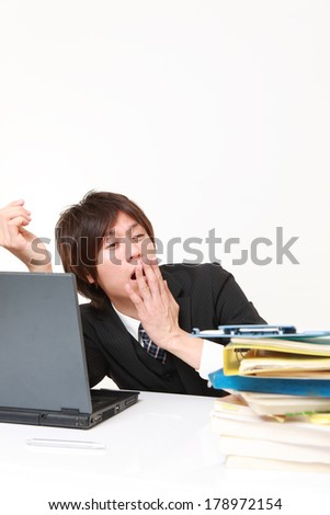 businessman Sleeping on the desk