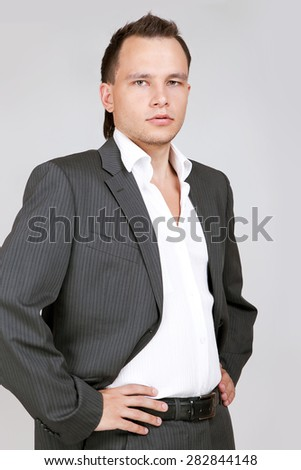 businessman standing  - stock photo