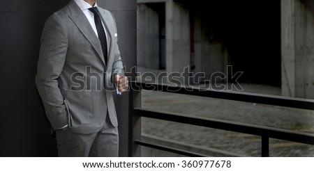Businessman standing - stock photo