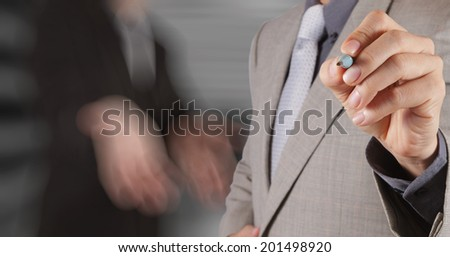 businessman success working with his team background as concept