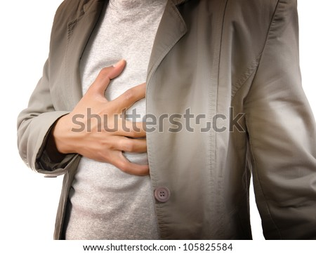 Businessman Suffering From Heart Attack. - stock photo