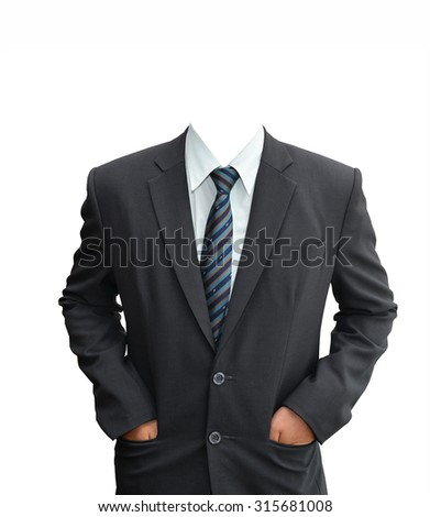 businessman Suit isolate on white background (whit clipping path)