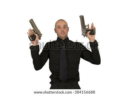 Businessman surrender isolated - stock photo